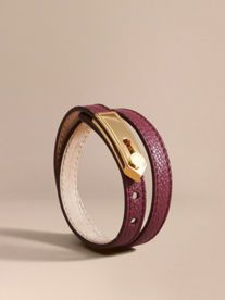Epaulette Plaque Leather Bracelet