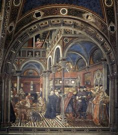 Domenico di Bartolo - The Rearing and Marriage of Female Foundlings (Spedale di Santa Maria della Scala, Siena) ドメニコ・ディ・バルトロ Medieval Paintings, Renaissance Paintings, European Paintings, Fresco, Italian Renaissance, Renaissance Art, Italy Pictures, Cool Pictures, Tempera