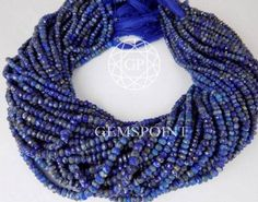 Natural Lapis Lazuli 3.5-4mm Faceted Roundels 13.5 inch