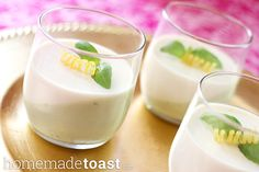 Panna cotta is one of my all-time favorite desserts, ever. Add in a little fresh lemon and basil, and I'm in heaven.