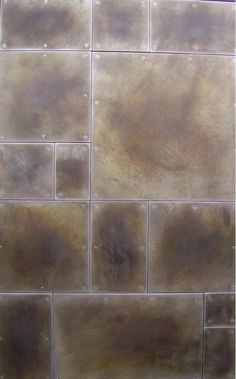Wall panels. Galvanealed steel with patina finish.