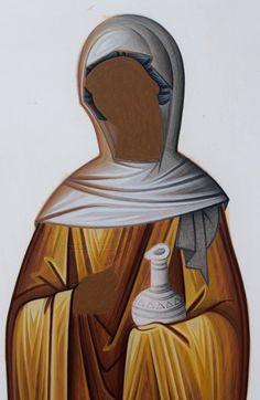Byzantine Icons, Byzantine Art, Religious Icons, Religious Art, Painting Lessons, Painting Techniques, Writing Icon, Face Icon, Expressive Art