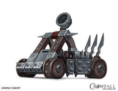 Crowfall game, catapult concept art. You can see more on https://crowfall.com/  #Crowfall #gaming #MMO #PvP #MMORPG #RPG #multiplayer #online #PC #catapult #drawing #art #illustration #siegeengine #siege