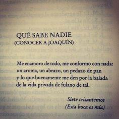 Siete crisantemos- Joaquin Sabina