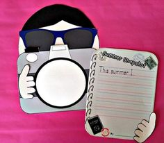 "Craftivity (Middle School): This is a great activity for the end of the year! Students will write an essay- ""a snapshot"" -of their year."