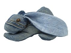Maison Indigo Stuffed Animals Blue Bunny Rabbit - Recycled Denim Jeans Plush Toys Childrens Kids Cuddle Accessories Home Decor - The Netherlands Animaux de Nimes Collection - Made in Denim Finds Fashion Style