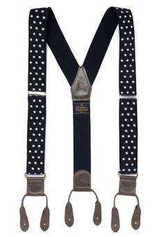 Blue/White Stars Ribbon Braces - Vivienne Westwood. Promise I'd rock at church next Independence Day