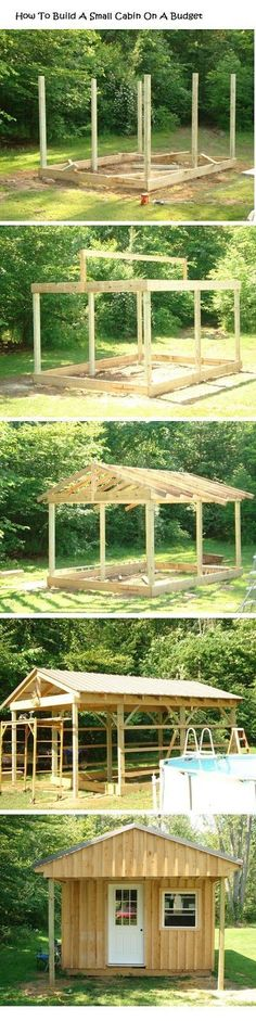 How To Build A Small Wood Cabin On A Budget #howtobuildagardenshed #outdoordiyonabugdet