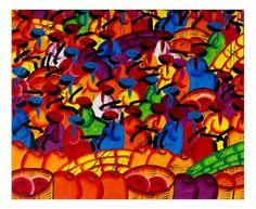 Quadro raffigurante un tipico mercato delle zone caraibiche con una meravigliosa combinazione di colori. Tecnica acrilico su tela. Già montato su telaio in legno. Dimensioni 60 x 50 (approssimaz. 1-2 cm) http://www.solohechoamano.it/store/quadri/quadri-caraibi-rep-dominicana-haiti/quadro-mercato-122.html