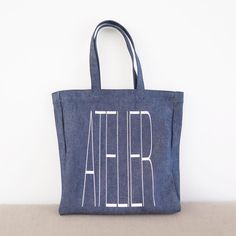 Atelier denim tote created to celebrate the 5th anniversary of the A.P.C. Kichijouji and Sendai stores in Japan. Only available in these two stores. #apc by apc_paris