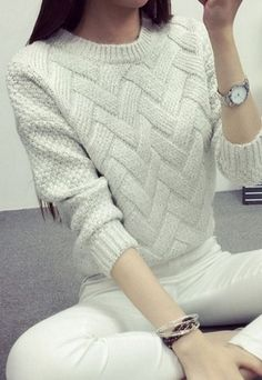 New Fashion Women Sweaters Pullovers Casual O-neck Long Sleeve Female Sweater Warm Autumn Winter Pullover Women's Sweaters Mohair Sweater, Wool Sweaters, Pullover Sweaters, Loose Sweater, Sweater Cardigan, Casual Sweaters, Girls Sweaters, Sweaters For Women, Warm Autumn