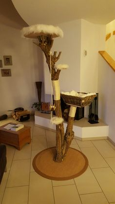 Cat Tree Cat Tree Sisal Untreated Natural Unikat www. Sisal, Homemade Cat Toys, Interactive Cat Toys, Cat Tags, Cat Playground, Cat Scratching Post, Cat Room, Cat Condo, All Things Cute