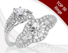 Item Details: SRR115092 R38/0.51 P4/0.20 14KW 6.3MM ENG  A special token of your affection. This gorgeous glittering engagement ring is encrusted with 0.71cts of round and princess cut accent stones, set in 14k white gold. This ring can accommodate a center stone of approx 1ct or larger.  Matching band is available for the style as a special order