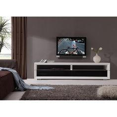 Mogul Remix IR Remote Compatible TV Stand, Silver