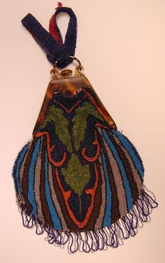 Beadwork, bag, ca 1900 England, the Bowes Museum