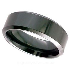 Geti Flat Black Zirconium Ring