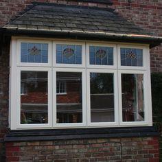 Stom 2 Upvc Cottage Style Windows With Custom Coloured Leads
