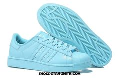cb7e27fa3c471 Adidas Originals Superstar 80s Metal Toe Shoes For Womens Crystal Blue Adidas  Superstar 80s Clean
