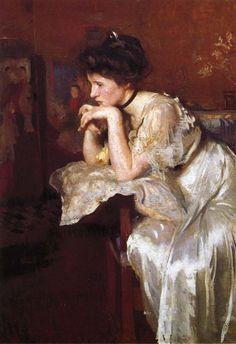 Reverie (Katherine Finn) , Edmund Charles Tarbell. Pintor (1862-1938)