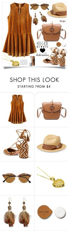 Boho Girl!! by samra-bv on Polyvore featuring Aquazzura, Sensi Studio, Ray-Ban, Clinique and Bobbi Brown Cosmetics