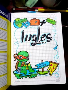 Cute Kids Crafts, Pop Art Girl, Decorate Notebook, Notebook Covers, Planner, Tmnt, Doodles, Bullet Journal, Lettering
