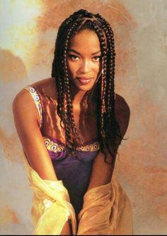 Braided Beauty Naomi Campbell • Box Braids