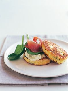 ricotta, chive and prosciutto omelettes from donna hay