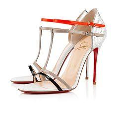 Christian Louboutin Arnold 100mm Sandals Silver Women Sandals shoes