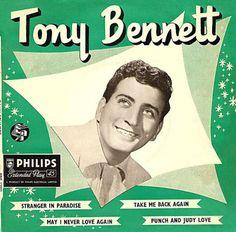 Tony Bennett-Tony Bennett EP 1956 Lp Cover, Vinyl Cover, Never Love Again, Punch And Judy, Tony Bennett, Extended Play, Lps, Good People, Album Covers