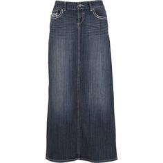 Buy Embellished Pocket Long Denim Skirt