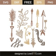 *** FREE SVG CUT FILE for Cricut, Silhouette and more *** Arrows