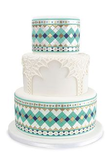 Amazing Moroccan tile cake by Mark Joseph Cakes. Photo: Steven Torres