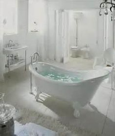 To have a vintage bathroom in my dream home. So Cute!