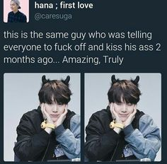 Because he is Agust D aka Min Suga jjang jjang man boong boong Min Yoongi Bts, Min Suga, Suga Suga, Bts Boys, Bts Bangtan Boy, Bts Memes, K Pop, Min Yoonji, Images Gif
