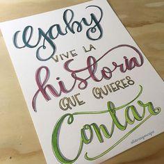 Un regalillo de cumpleaños que hicimos hoy! #letrasyencajes #pinturaacrilica #lettering #acrilicpainting #acrilicpaints #acrilicpaint #letras #felizcumpleaños #letteringpractice #handwriting #brushlettering #pointerpen #gellyrollpens