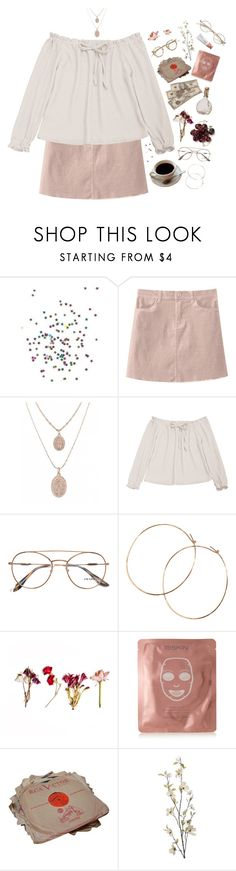 """#1Z Glasses"" by lsaroskyl ❤ liked on Polyvore featuring Prada, Jennifer Creel, 111Skin and Pier 1 Imports"