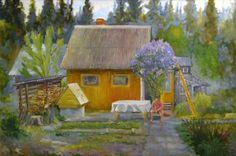 Сирень у баньки, автор Александр Арбузов.