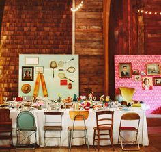 wes anderson styled reception