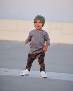 Grey Tri Blend Long Sleeve Hoodie - October 05 2019 at Cute Baby Boy Outfits, Little Boy Outfits, Toddler Boy Outfits, Toddler Boys, Kids Outfits, Toddler Boy Style, Kids Fashion Blog, Toddler Boy Fashion, Little Boy Fashion