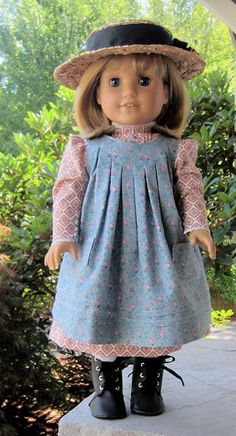 The Doll Dressmakers Workshop introduces a pattern by Ann Van Doren Designs for an 18 doll Apron inspired by an American Girl in the early