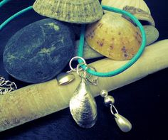Mussel Charm Necklace by TheGildedMussel on Etsy, £12.00