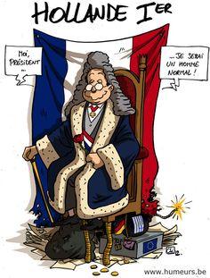 François Hollande intronisé président ! www.humeurs.be