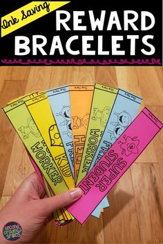 Teachers, are you looking for an alternative to brag tags or an affordable prize box option? These ink saving reward bracelets are a fun and easy way to praise, reward, and positively reinforce desired student behaviors. Also includes a birthday bracelet to help celebrate each child's special day! Just print and cut to prep! Teaching Second Grade, Second Grade Teacher, 2nd Grade Classroom, First Grade Teachers, 3rd Grade Math, Third Grade, Prize Box, Brag Tags, Student Behavior