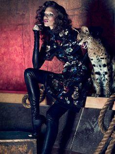 Kim Cloutier by Chris Nicholls for Dress to Kill Magazine Summer 2013