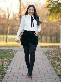 Holiday Party Style in Winter Shorts
