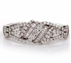 Your #1 Source for Jewelry and Accessories » Antique Art Deco 35.00cts Platinum Circa 1930's Diamond Bracelet
