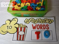 Popcorn Word Activities to help your students learn 100 of the most frequently used words in the English language. Anchor chart, EDITABLE word lists to send home, building word activities, and more, for use all year long! Kindergarten Names, Kindergarten Centers, Literacy Centers, Sight Word Activities, Hands On Activities, Popcorn Words, Sight Word Centers, Teaching Sight Words, First Grade Sight Words