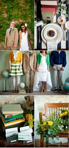 As a proud nerd and book lover, I love this.... :)    Minneapolis Library Inspiration Shoot by Jeff Loves Jessica | Style Me Pretty