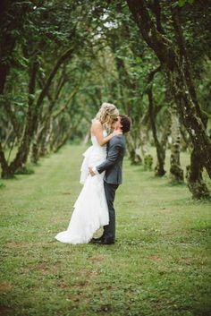 Joyful love: http://www.stylemepretty.com/canada-weddings/british-columbia/2015/01/22/rustic-hazelnut-orchard-wedding-in-abbotsford-british-columbia/ | Photography: Whitney Krutzfeldt - http://www.wckphotography.com/