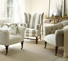 Thatcher upholstered #grey wingback chair http://rstyle.me/n/gidivr9te